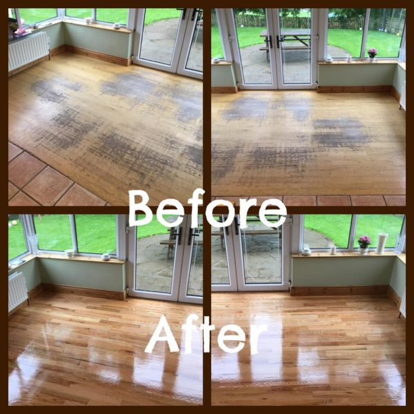 Conservatory Floor Before/After
