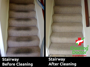 Stairway Carpet Before + After