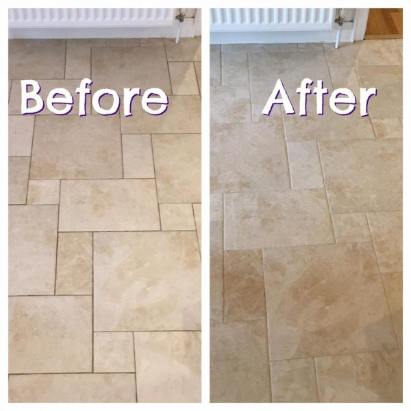 Hall Floor Before/After
